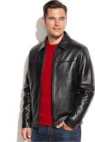 Izod Leather Bomber Jacket