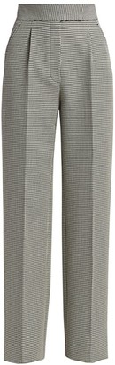 Alexander Wang High-Waist Pleated Wool-Blend Pants