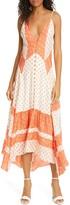 Rebecca Taylor Mixed Print Silk Midi Sundress