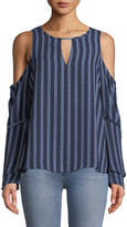 MICHAEL Michael Kors Cold-Shoulder Flare-Sleeve Blouse