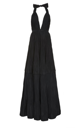 Alexis Tressa Fit-and-Flare Plisse Gown