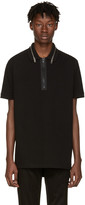 Givenchy Black Zip Collar Polo