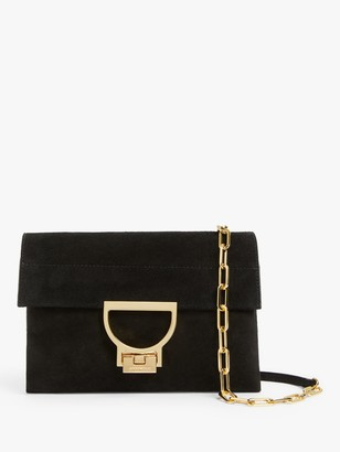 Coccinelle Arlettis Suede Cross Body Bag, Black