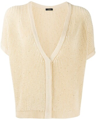 Peserico Embellished Shortsleeved Cardigan