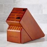 Crate & Barrel Wüsthof ® 17-Slot Cherry Knife Block