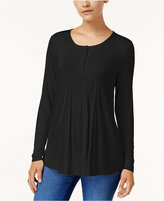 Style&Co. Style & Co Petite Pintucked Top, Created for Macy's