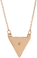 Stephan & Co Short Triangle Crystal Pendant Necklace