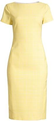 BOSS Dimaia Mixed Glen Check Stretch Sheath Dress