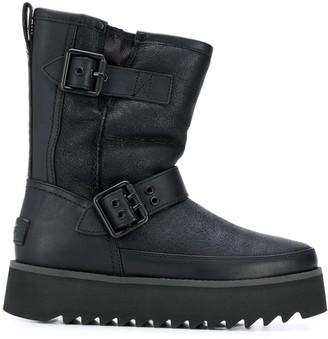 UGG ridged sole biker boots