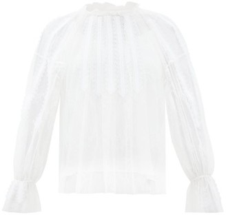 Chloé Chantilly Lace Top - White