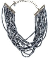 Kenneth Jay Lane Faux Pearl & Crystal Bead Strand Necklace