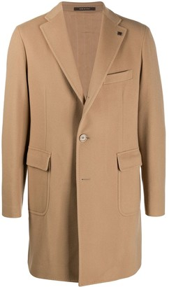 Tagliatore Mid-Length Single-Breasted Coat