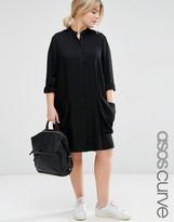 Asos Shirt Dress with Drape Pockets