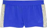 Jagger Jade Zigzag beaded shorts