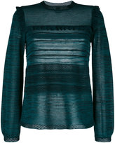 M Missoni knitted frill trim blouse