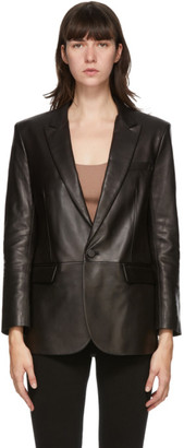 Mackage Black Leather Tracy Jacket