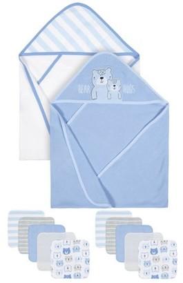Gerber Baby Boys Organic Towels and Washcloths Bath Bundle, 12-Piece Set