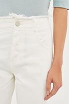 Topshop High Waist Frayed Hem Jeans by Boutique