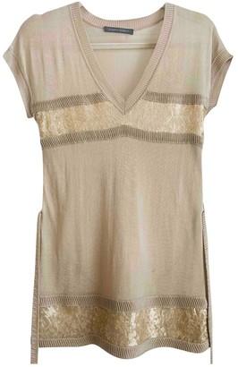 Alberta Ferretti Beige Silk Top for Women