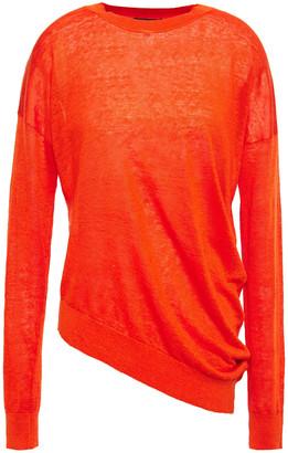 Theory Asymmetric Linen-blend Sweater