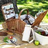 Picnic at Ascot Huntsman Basket for Four with Coffee Set and Blanket in Gazebo