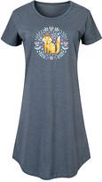 Scandinavian Instant Message Women's Women's Tee Shirt Dresses HEATHER - Heather Blue Spring Fox Short-Sleeve Dress - Women & Plus