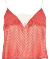 River Island Womens Pink jacquard cami pyjama top