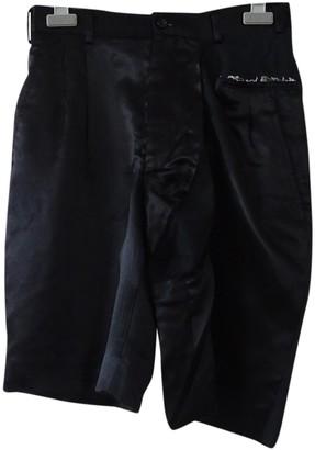 Comme des Garcons Black Silk Shorts for Women