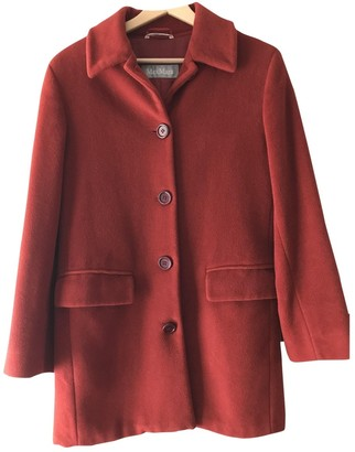 Max Mara Red Wool Coat for Women Vintage