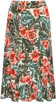 M&Co Tropical tie waist skirt
