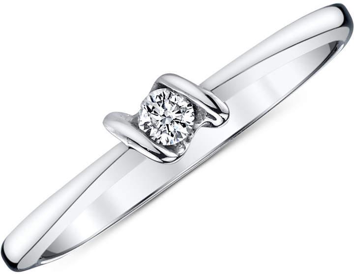 Sirena Diamond Accent Ring in 14k White Gold