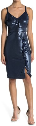 GUESS Slip Dress With Cascading Ruffle