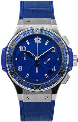 Hublot Blue Baguette Sapphire Stainless Steel Big Bang Tutti Frutti 341.SL.5190.LR.1901 Men's Wristwatch 41 MM