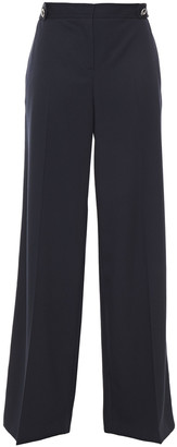 Alexander McQueen Two-tone Wool-crepe Wide-leg Pants