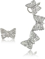 Bernard Delettrez Butterflies White Gold Earrings w/Diamonds