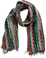 Missoni Detail Knit & Fringed Scarf