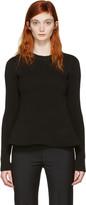 MM6 MAISON MARGIELA Black Peplum Sweater