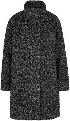 Eileen Fisher Black Alpaca-blend Boucle Coat