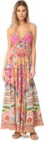 Camilla Hani Honey Long Dress With Tie Front