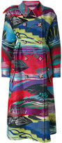 Giorgio Armani printed oversized coat - women - Silk/Cotton/Acrylic/Metallic Fibre - 38