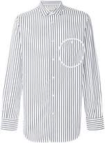 Corelate circle detail striped shirt
