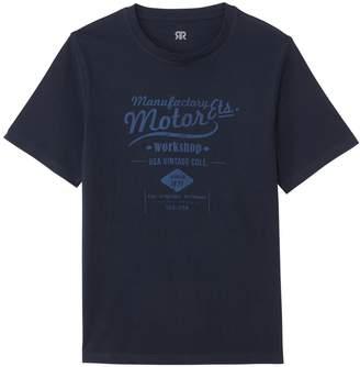 La Redoute Collections Cotton Vintage Motor Print T-Shirt