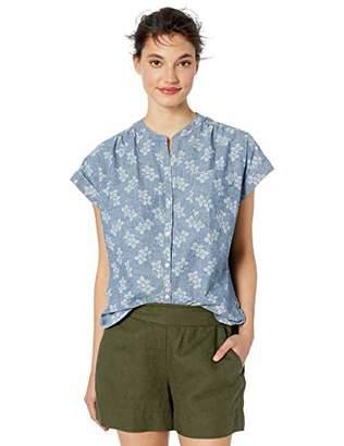J.Crew Mercantile Women's Short Sleeve Floral Chambray Camp Shirt
