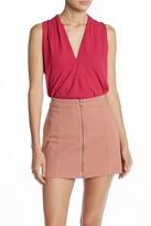 Lush Perfect Sleeveless Henley Shirt