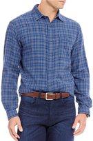 Daniel Cremieux Big & Tall Plaid Vintage Twill Long-Sleeve Woven Shirt