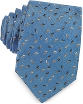 Lanvin Confetti Pattern Woven Silk Tie