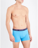 Tommy Hilfiger Pack Of Three Slim-fit Stretch-cotton Trunks
