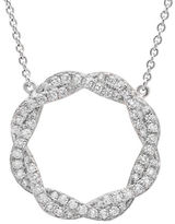 Crislu Cubic Zirconia Twist Pendant Necklace