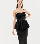 Asos Tall DESIGN Tall premium midi bodycon dress with pephem