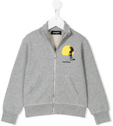 DSQUARED2 True Surf Style zip-up sweatshirt - kids - Cotton - 4 yrs